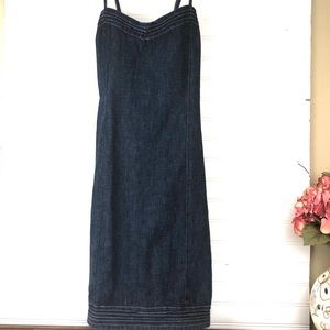 OLD NAVY Adjustable spaghetti strap denim dress